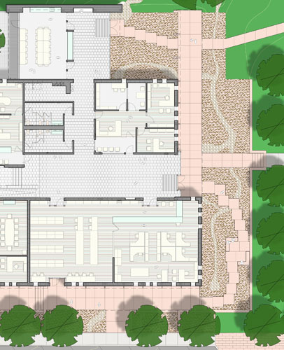Karnes County Offices on the Square - Floor Plan (detail view)