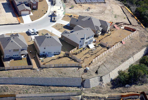 Retaining Walls Fail in San Antonio Suburban Development 2010
