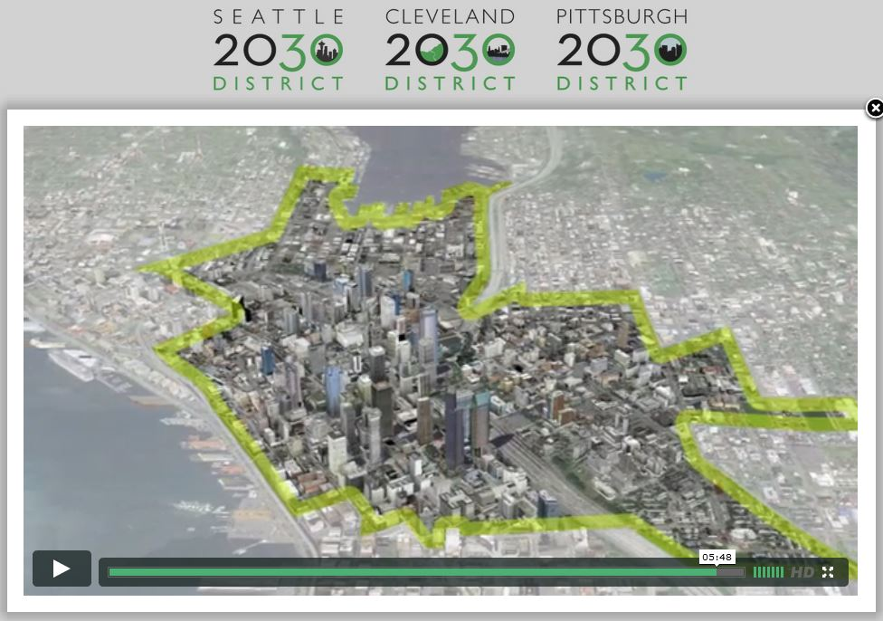 Seattle's 2030 District birds' eye view.