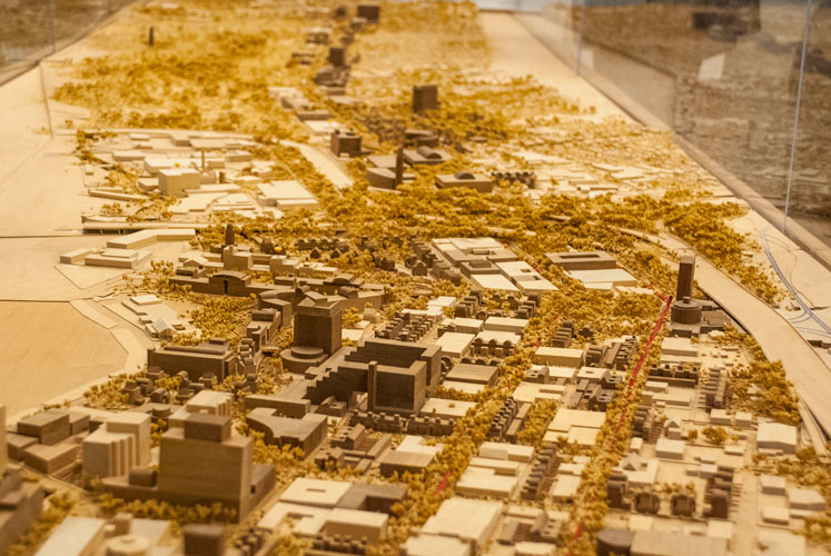 2014 view of Broadway Corridor model presented to City of San Antonio in the year 2000 by Alexander Carragonne and Carolyn Safar Peterson