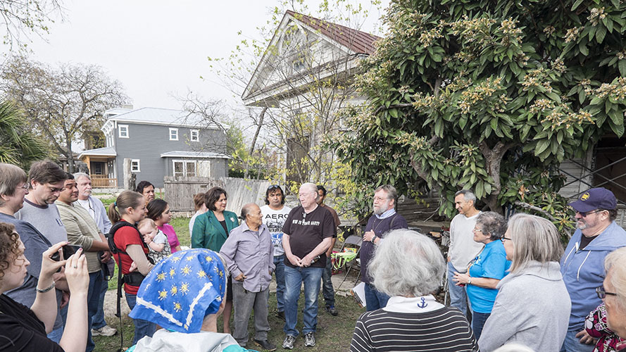 Treasure Hill Residence workday gathering.  December 13, 2014.