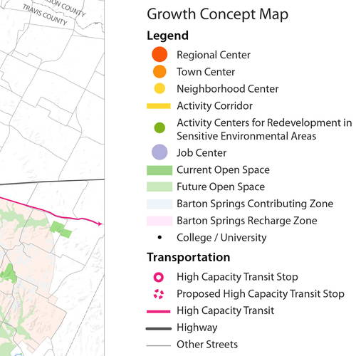 Austin Comprehensive Plan - Growth Map Legend